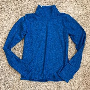 NWT Oiselle Lux Side Zip Up Pacific Blue Size 2